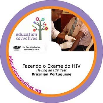 Brazilian Portuguese DVD: Having an HIV Test