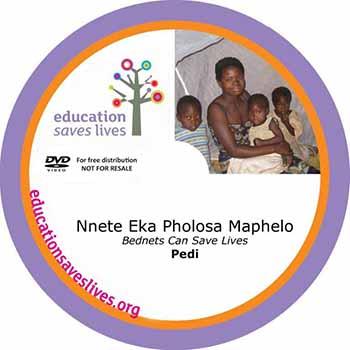 Pedi / N.Sotho DVD: Bednets Can Save Lives