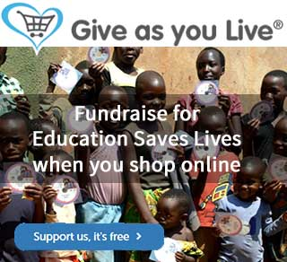 Give as you live - shop and support Education Saves Lives