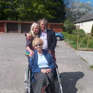 Helen with Christine Crowstaff and Andrew Sampson