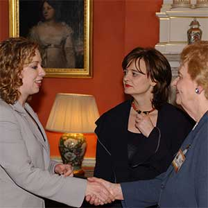 Helen with Chelsea Clinton and Cherie Blair
