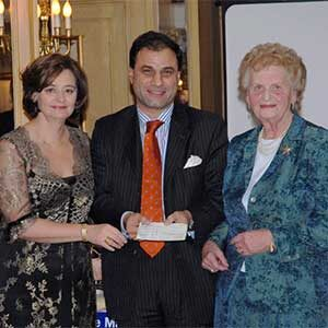 Helen, Lord Karan Bilimoria and Cherie Blair