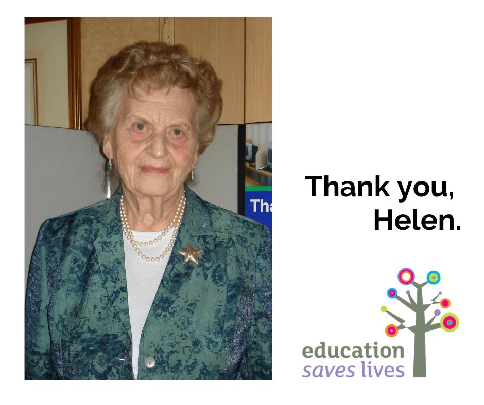 Thank you, Helen